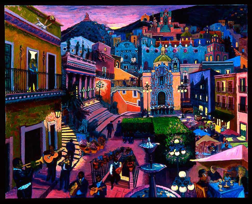 Mary Clay Hernandez - Guanajuato Series V: The Serenade/La Serenata