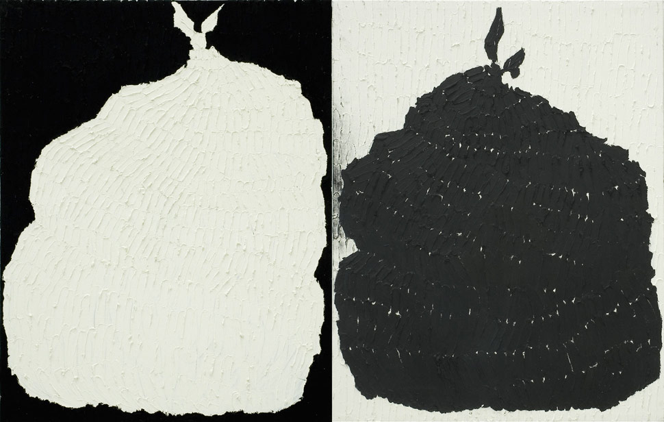 Goldie Saljoughi - White Bag, Black Bag