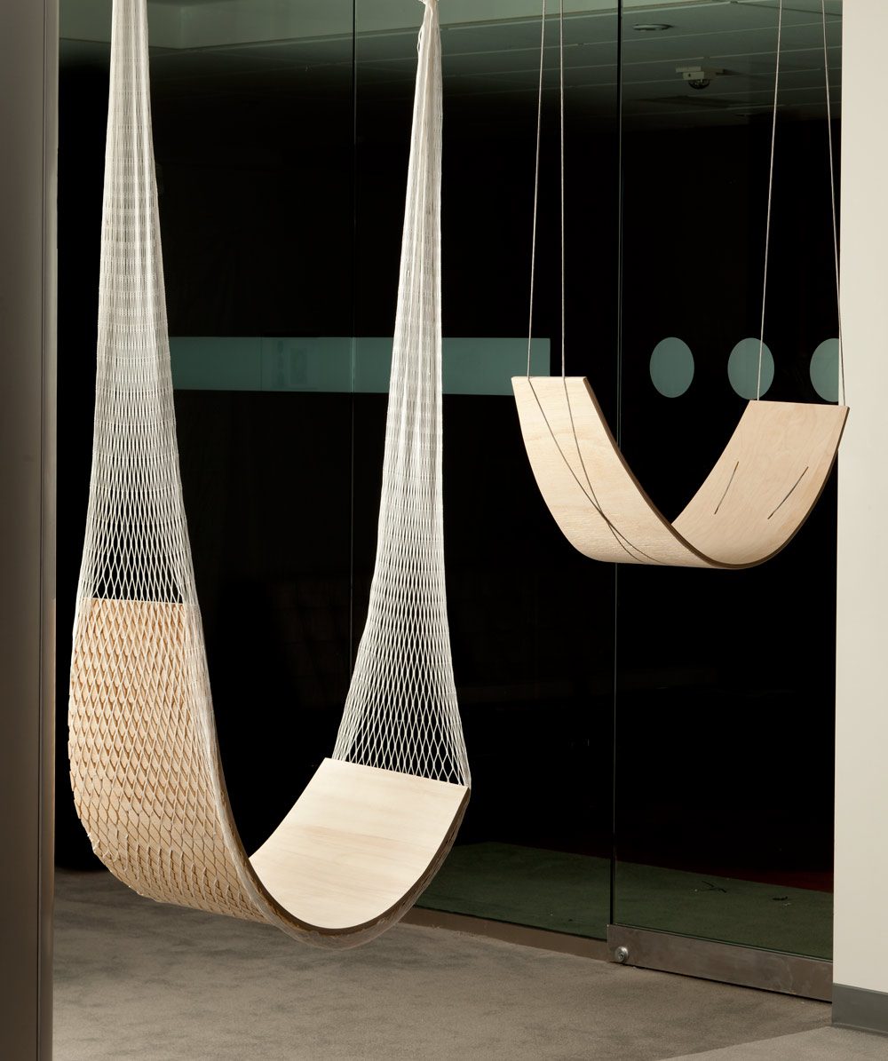 Tania Ursomarzo - 2011, Plywood, nylon netting, nylon rope, steel shackles, Sizes vary