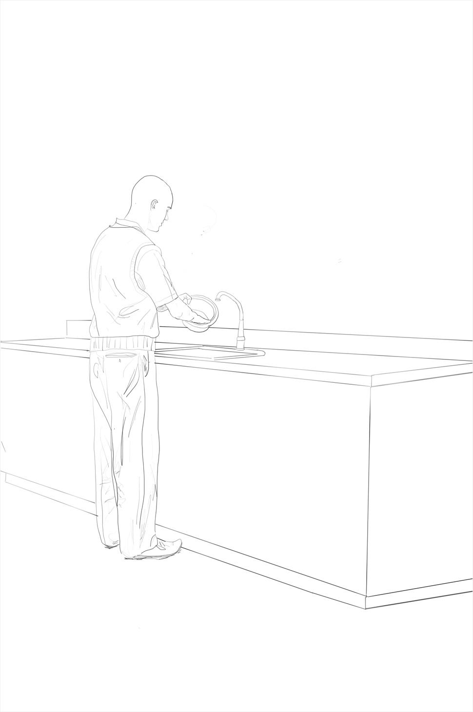 Michael Frels  - Washing Dishes
