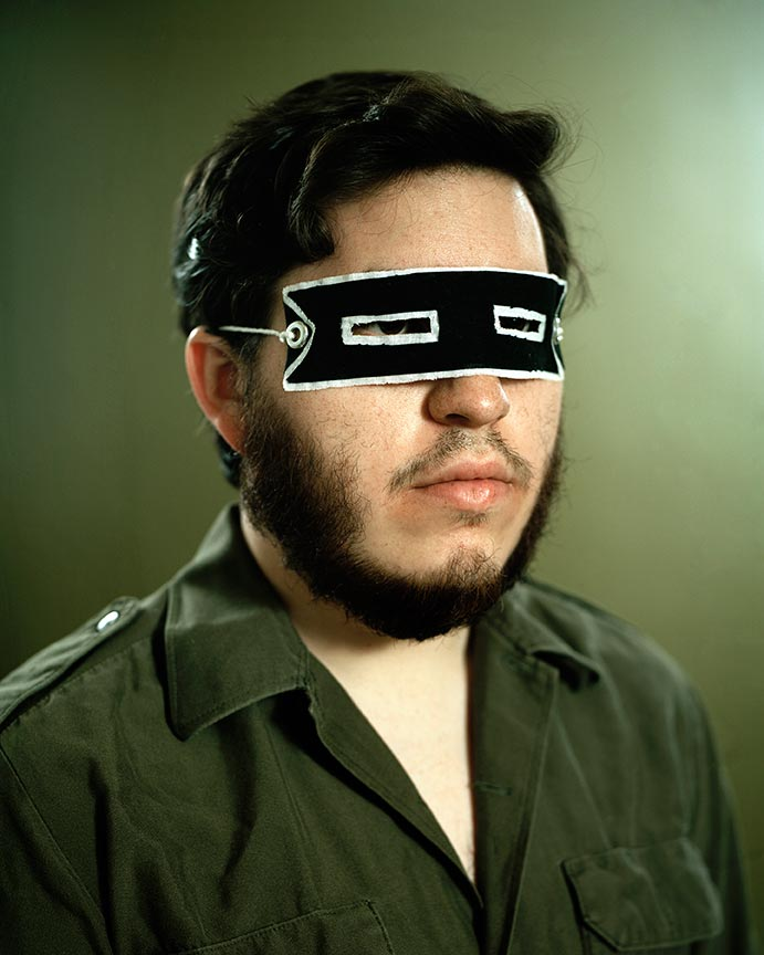 Nick Bontrager - Figure 185. Improvised sunglasses