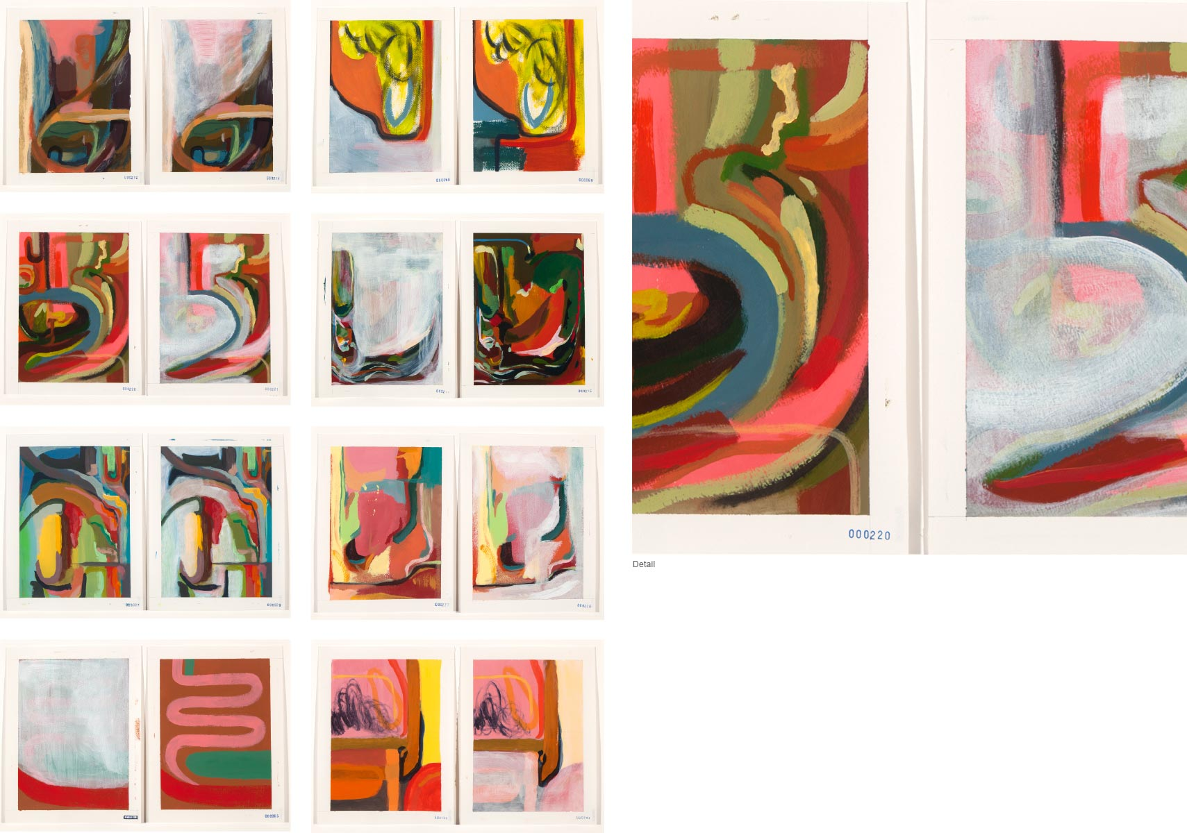 Jennifer Guest - 16 Abstract Paintings