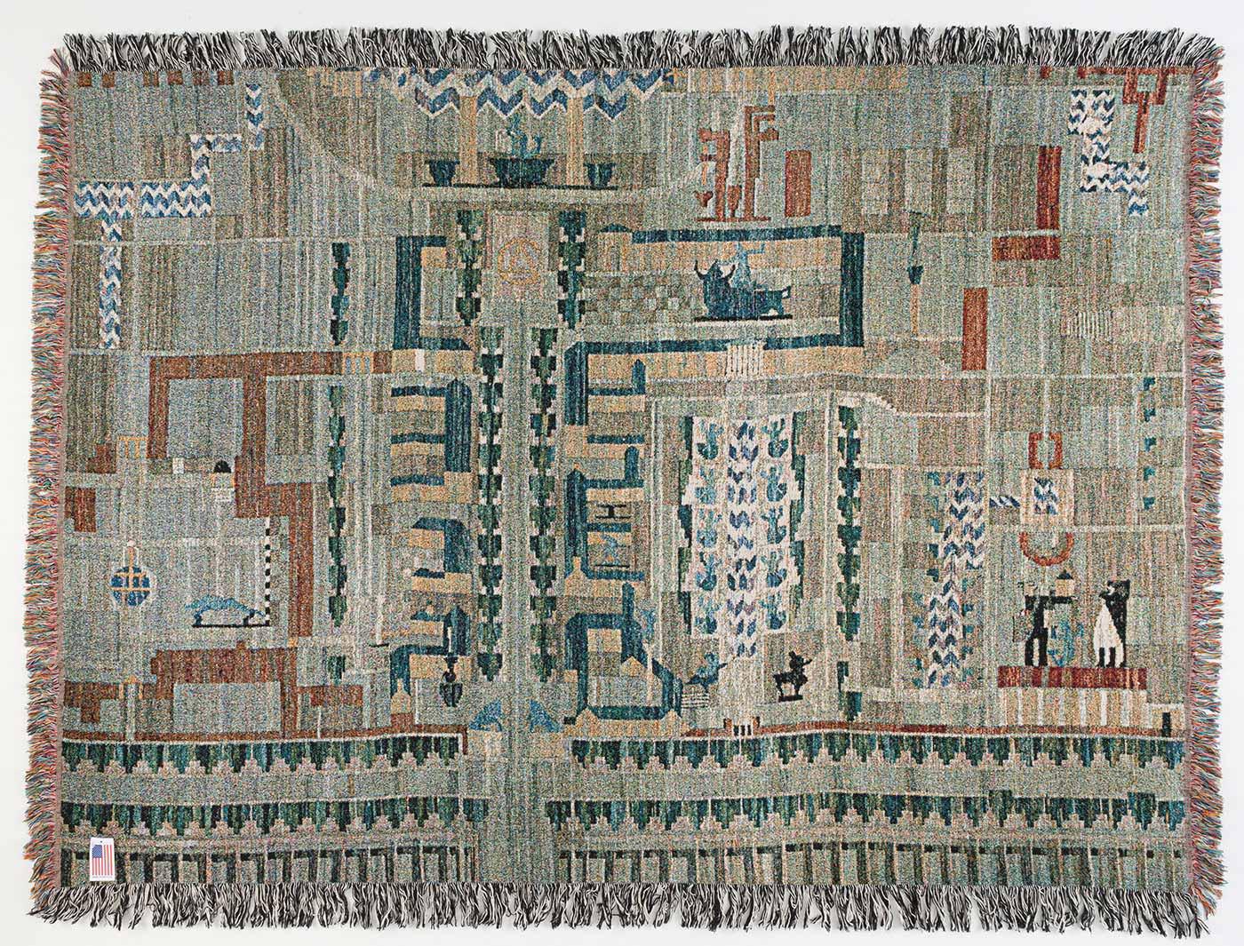 Anthony Warnick - Cranbrook Map Tapestry (after Loja Saarinen)