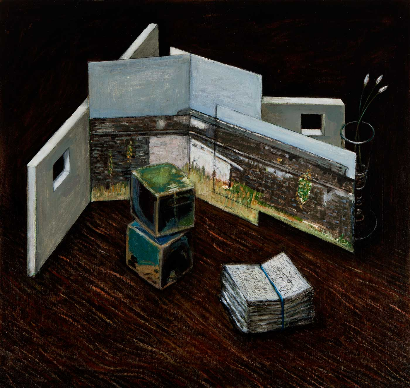 Heather Kelley - Study after the Magazine Wall