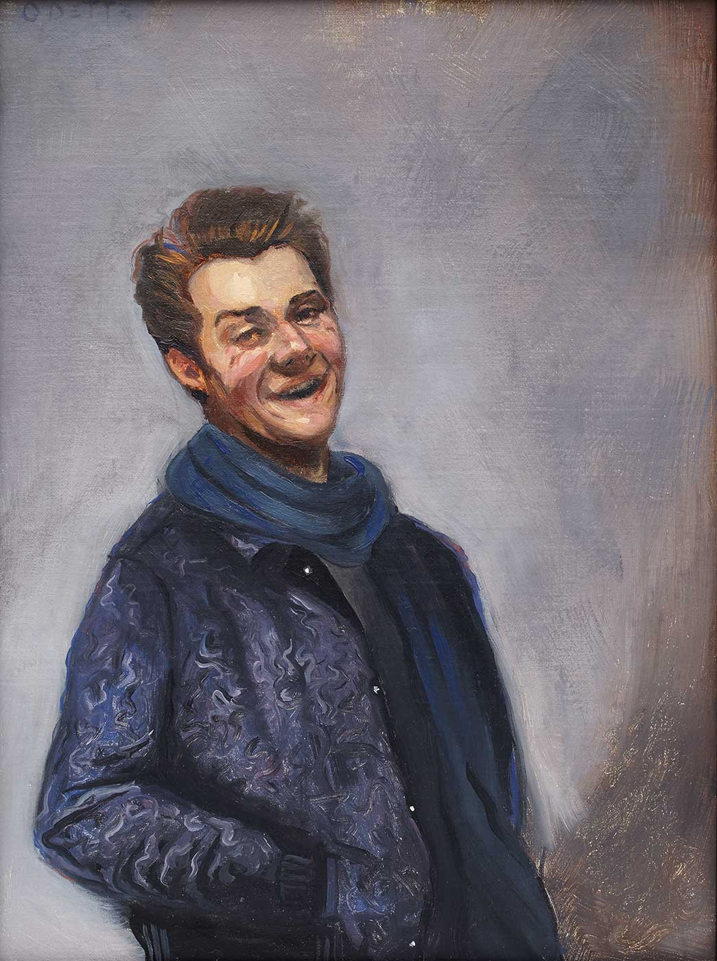 Evan Jensen - Self-portrait, Laughing, after Rembrandt
