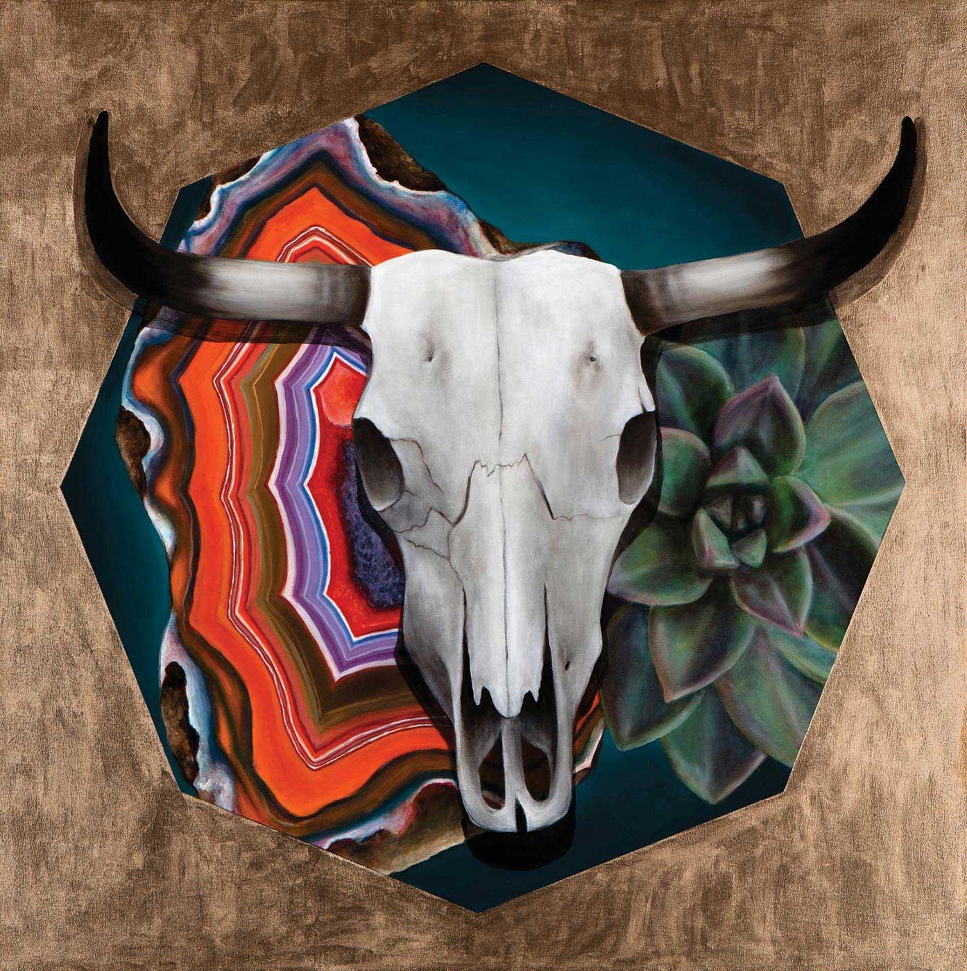 Sarah C. Morris  - Gold Skull