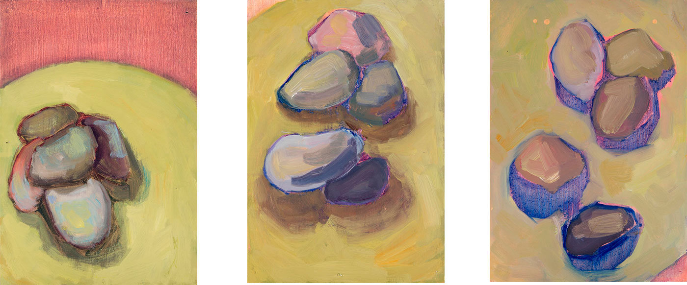 Olga Romanova - Study of Five Rocks