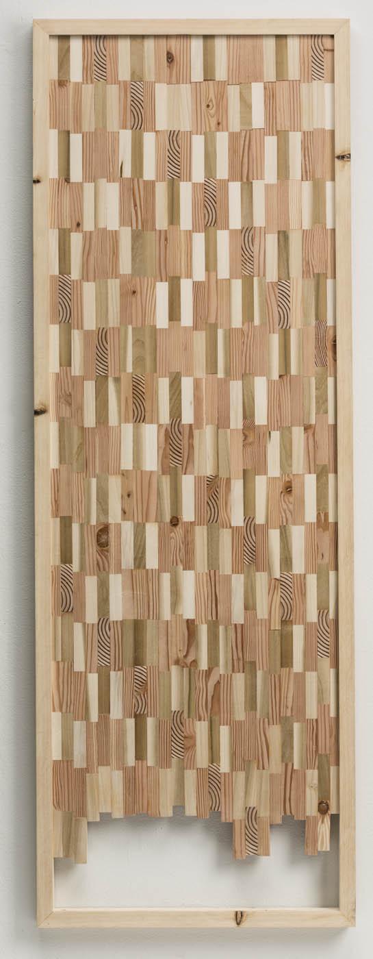 Ato K. Ribeiro  - Untitled (Wooden Kente 2)