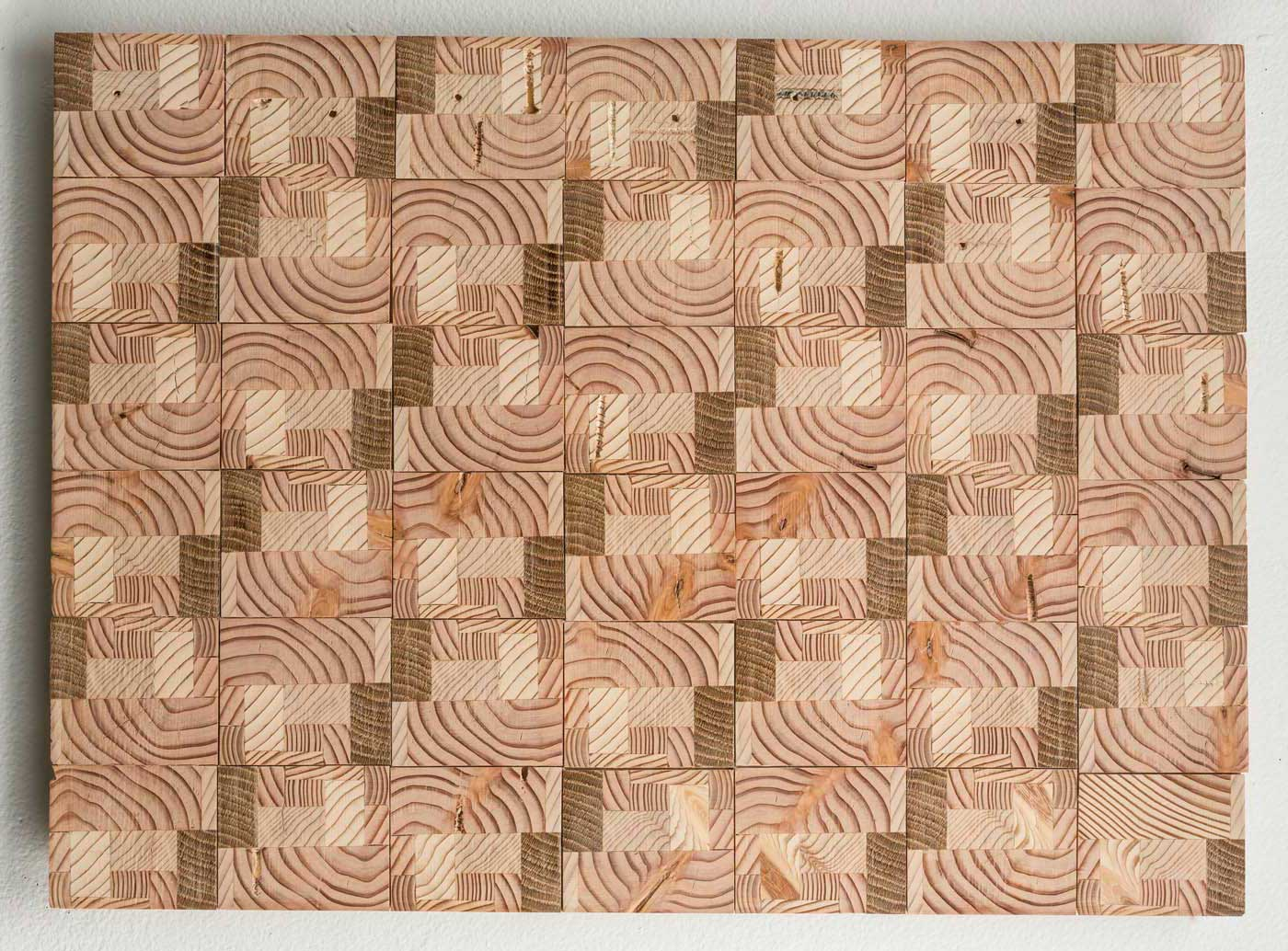 Ato K. Ribeiro  - Untitled (Wooden Quilt 2)