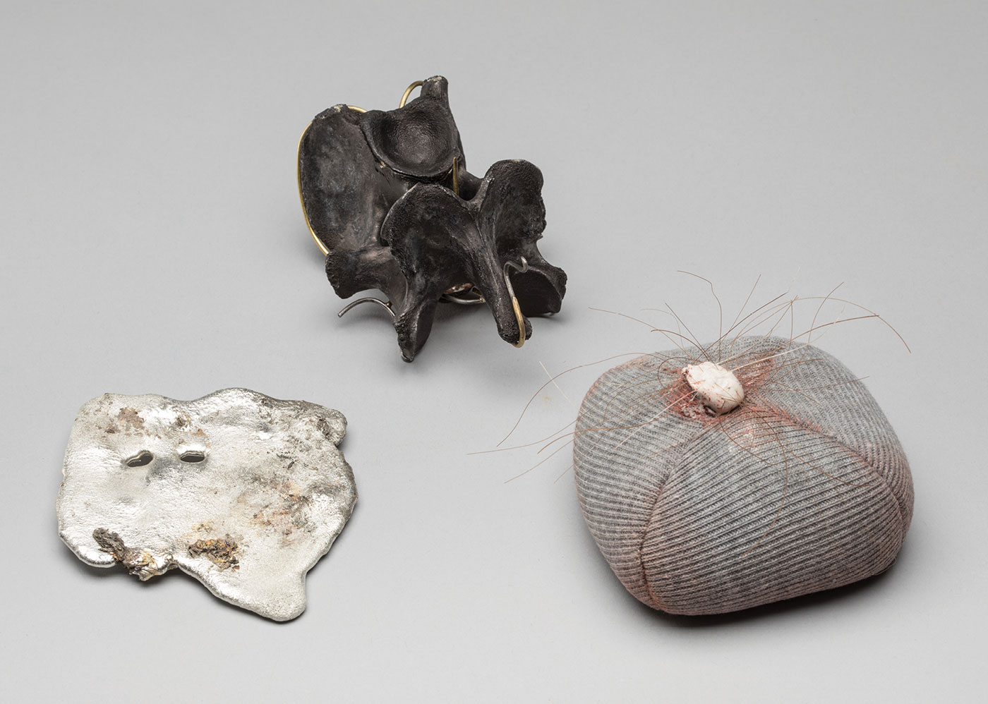 Alexis Richards - Three Objects (Bone and Costume, Growth, Burnt)