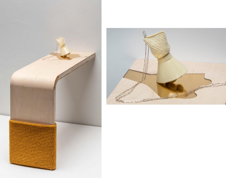 Tatum K. Gentry - Necklace with Bent Shelf